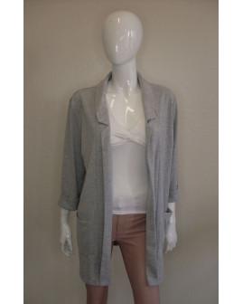 Mikinové sako Up Fashion sivé, bez zapínania, veľ.L