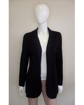 Mikinové sako s´Oliver čierne, bez zapínania, veľ.L