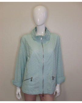 Mikinové sako Estelle Jolie zelené madeirové, veľ.44