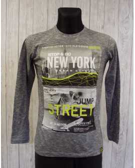 Tričko sivé s obrázkom, veľ.176