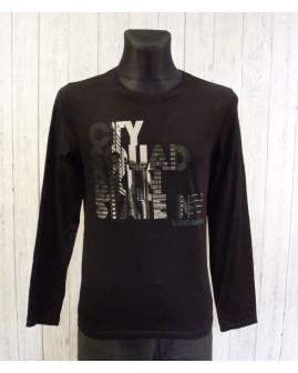 Tričko s´Oliver čierne s nápisom, veľ.M