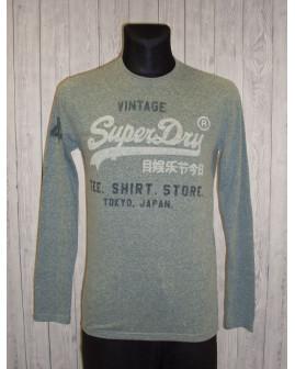 Tričko Super Dry sivé s nápisom, veľ.S