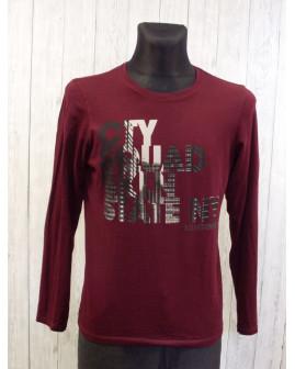 Tričko s´Oliver bordové s nápisom, veľ.M