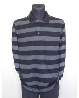 Tričko čierno-sivé prúžkované, veľ.56