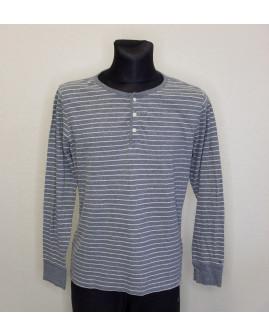 Tričko Tommy Hilfiger sivé prúžkované, veľ.L
