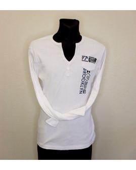 Tričko Identic biele s nápismi, veľ.XXL