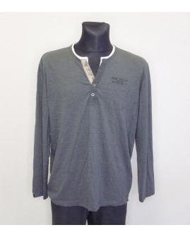 Tričko Tom Tailor sivé s jemným prúžkom, veľ.XL