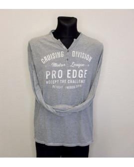 Tričko Jean Pascale sivé s nápismi, veľ.L