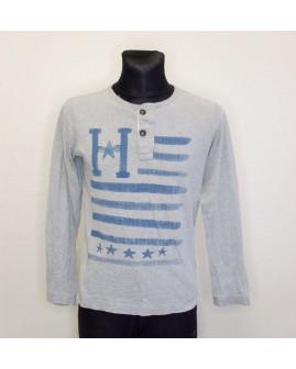 Tričko Tommy Hilfiger sivé s potlačou, veľ.176