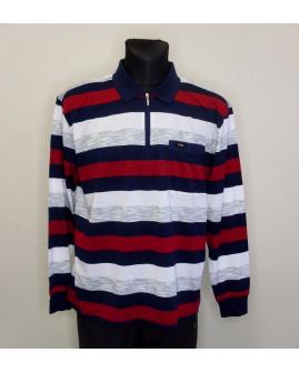 Tričko bielo-modro-červené prúžkované, veľ.XL