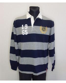 Tričko Jan Vanderstorm sivo-modré prúžkované, veľ.54