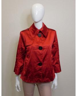 Krátky kabátik červený, veľ.38
