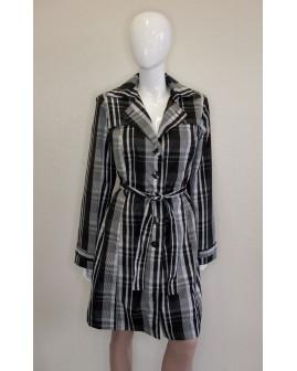 Kabátik Xanaka sivo-čierny károvaný, veľ.L