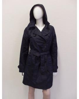 Kabátik Esmara čierny s opaskom, veľ.38