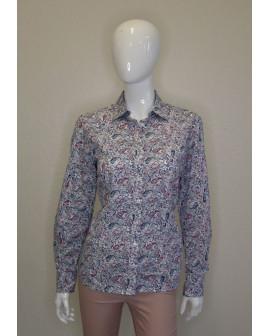 Košeľa Eterna modro-ružová vzorovaná, veľ.40
