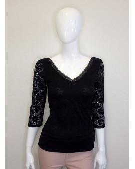 Tričko čierne čipkované, veľ.M