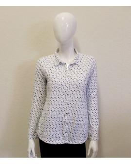 Košeľa biela s drobným vzorom, veľ.42