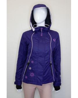 Bunda Skiwear fialová s kapucňou, veľ.36
