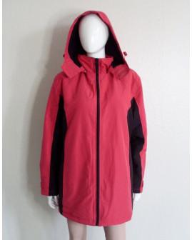Bunda ružovo-čierna s kapucňou, veľ.46