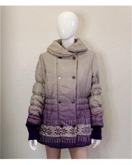 Bunda Himmelblau sivo-fialová so vzorom, veľ.L