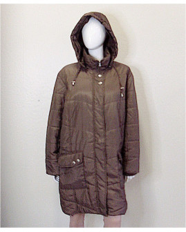 Bunda Miamoda hnedá s kapucňou, veľ.52