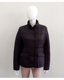 Bunda H&M čierna prešívaná, mierne zateplená, veľ.M