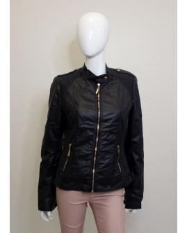 Bunda koženková čierna, veľ.XL