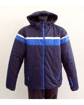 Bunda Crane modrá s kapucňou, veľ.XL