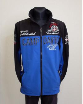 Bunda softshellová Camp David modro-čierna, veľ.4XL
