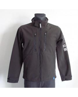 Bunda H&M softshellová čierna, veľ.170