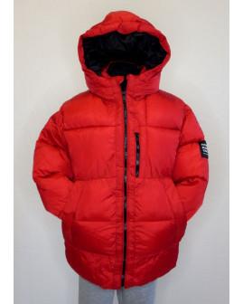 Bunda Zara červená s kapucňou, veľ.146