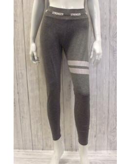 Športové nohavice dámske sivé s nápisom, veľ.S/M