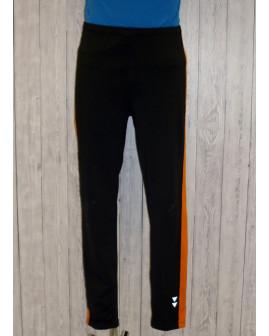 Športové nohavice pánske tmavošedé s oranžovým, veľ.L