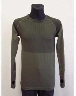 Tričko Active zelené s jemným prúžkom, veľ.L