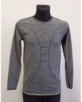 Tričko Toptex sivé melírované, veľ.L