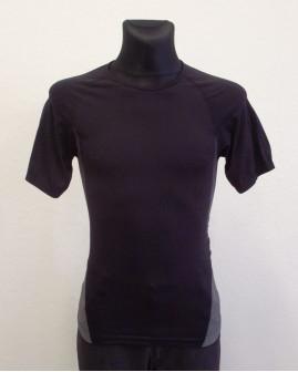 Tričko Tchibo čierne, so sivým vzorom na bokoch, veľ.M