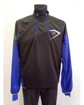 Športová bunda Kalenji pánska čierno-modrá, veľ.XL