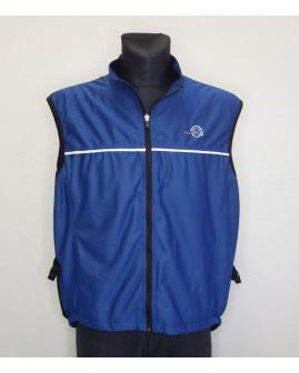Cyklistická vesta Crane modro-čierna, veľ.XL