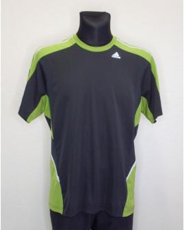 Tričko Adidas sivo-zelené, veľ.L