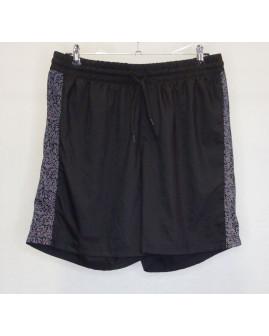 Športové šortky Crane pánske čierne, na bokoch so vzorom, veľ.XL