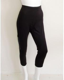 3/4 cyklistické nohavice Crane dámske čierne, veľ.L
