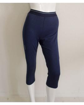 3/4 cyklistické nohavice dámske modré, mierne zateplené, veľ.S