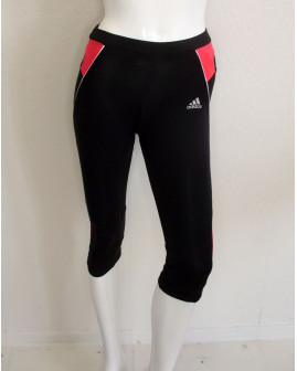 3/4 cyklistické nohavice Adidas dámske čierne, veľ.XS