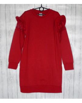 Predĺžená mikina C&A červená, veľ.146/152