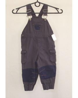 Nohavice na traky Topomini sivo-modré, veľ.74