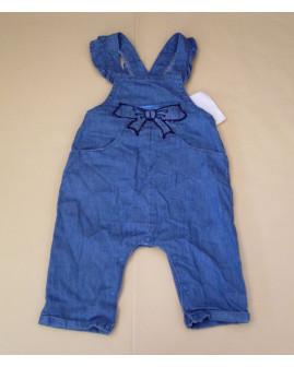 Letné nohavice na traky Topolino modré s obrázkom, veľ.68
