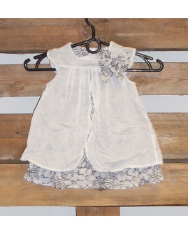 Šaty sivo-biele, veľ.12M
