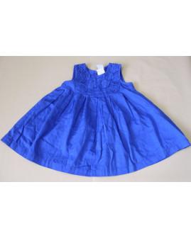 Šaty H&M modré s našitými kvetmi, veľ.86