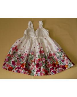 Letné šaty H&M biele s kvetmi, veľ.92