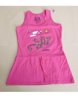 Šaty ružové s obrázkom, veľ.10R